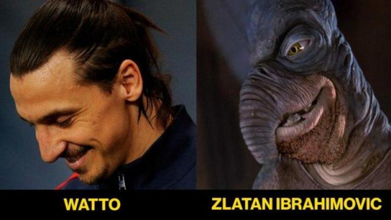 Златан и Уато си приличат не само по носовете