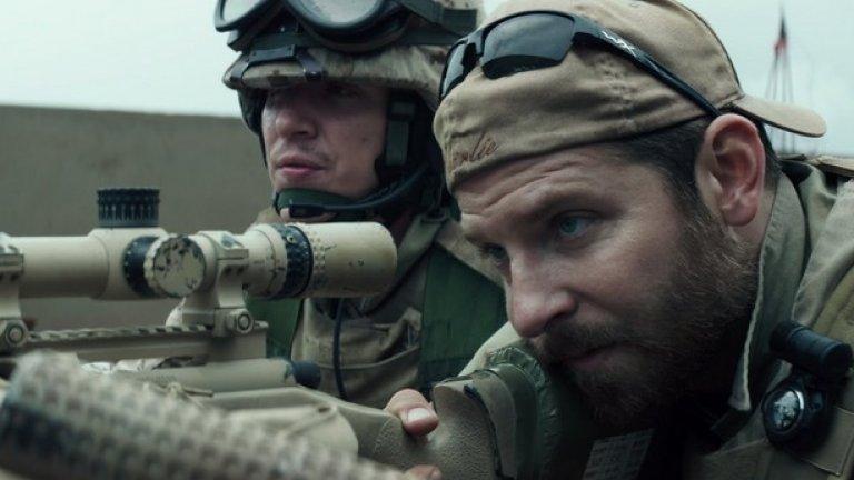 """Брадли Купър в ролята на Крис Кайл в """"Американски снайперист"""""""