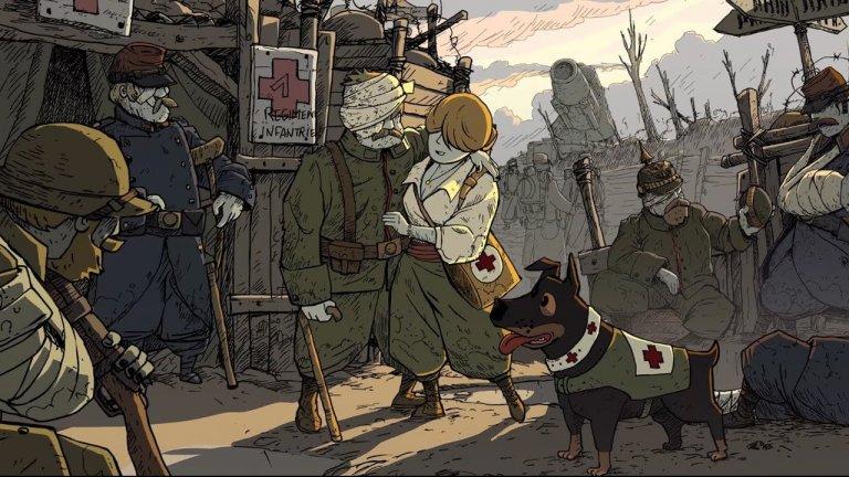 Valiant Hearts: The Great War  Възможно ли е такава мрачна тема като Първата световна война да се превърне във видеоигра с анимационна графика, която е едновременно сериозна и забавна? Valiant Hearts е създадена със същия UbiArt Framework 2D енджин, който захранва Rayman Origins и Child of Light. Очевидно тук няма как да говорим за стремеж към приказна визия, но светът на играта, наподобяващ комикс, може да бъде не по-малко тържествен и дори красив. Историята на играта следва съдбите на петима много различни герои: възрастният френски фермер Емил; американецът Фреди, който няма да се спре пред нищо, за да намери своето отмъщение; немецът Карл, който е депортиран от Франция в началото на войната; белгийската медицинска сестра Ана, чийто баща е отвлечен учен, и английският пилот Джордж, който не знае как да лети.   По отношение на геймплея е трудно да посочим жанр, но Valiant Hearts се върти най-вече около графично приключение и пъзел. Замисълът на създателите й очевидно не е бил да измъчат или затруднят геймърите, тъй като играта предпочита разнообразието и силата на историята пред свръхтрудните пъзели. Комбинирана с контрастна визия, специфична тематика и красив арт стил, Valiant Hearts: The Great War е нещо специално. Тя не е най-добрият начин да изучавате история, но е интересна, добре изглеждаща и пълна с атмосфера.