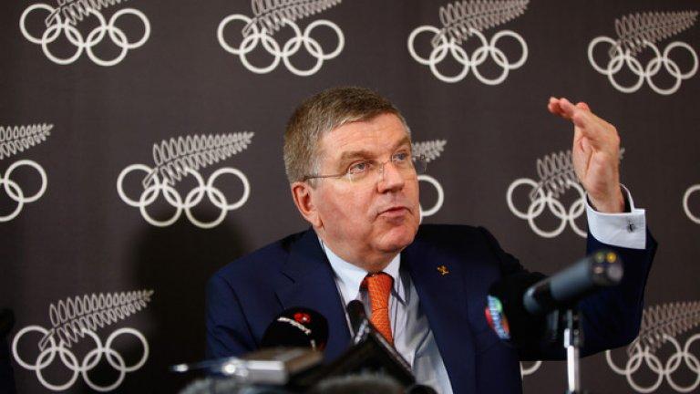 Президентът на МОК Томас Бах обяви изхвърлянето на Русия от Олимпиадата в Пьончан
