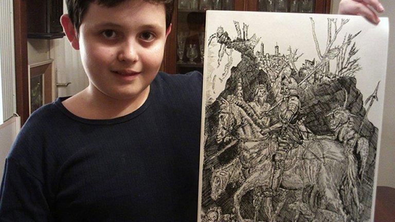 Той публикува новите си картини редовно във Facebook