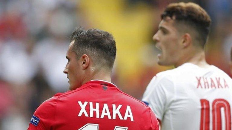 За първи път в историята на Европейското първенство двама братя се състезават за различни отбори. Както вероятно се досещате, става въпрос за Гранит и Тулан Джака.