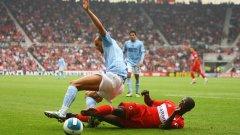 """Мартин Петров, който бе част от Манчестър Сити между 2007 и 2010 г., бе титуляр в онзи злополучен мач за """"гражданите"""". В общо 72 мача за Сити Марто има 12 гола и 15 асистенции."""