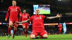 Мартин Шкъртел вкара четвъртия гол срещу Сити. Ливърпул би 11 точни удара като гост на фаворита за титлата в Англия, надигравайки го напълно.