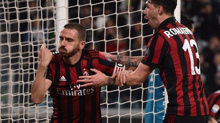 Любопитното е, че Бонучи остана верен на жеста си и в единствения си сезон в Милан - 2017/18