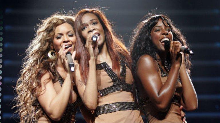 Destiny's Child в най-популярния си състав с Бионсе, Кели Роуланд и Мишел Уилямс. Малцина помнят, че раздялата с техните предшественички не премина съвсем гладко