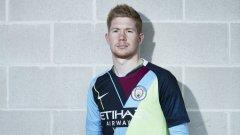 Кевин де Бройне бе сред звездите на Манчестър Сити, които представиха новия екип...