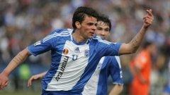 Вальо Илиев вкара много важния първи гол за отбора си в 15-ата минута