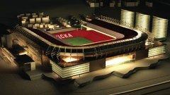Проектът за нов стадион на ЦСКА ще бъде официално показан утре
