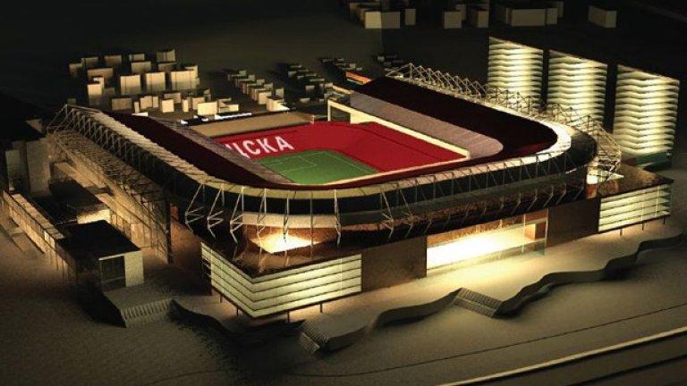 Новото бижу на ЦСКА ще бъде изградено на мястото на сегашното