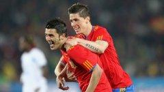 Давид Вия и Фернандо Торес снощи бяха в основата на успеха на Испания