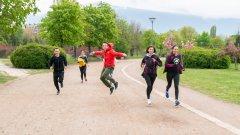 Компанията за спортни стоки представи новия си модел маратонки с предизвикателство към гостите