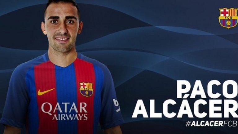 Барселона плати 30 млн. евро на Валенсия за Пако Алкасер и прати Мунир обратно под наем до края на сезона