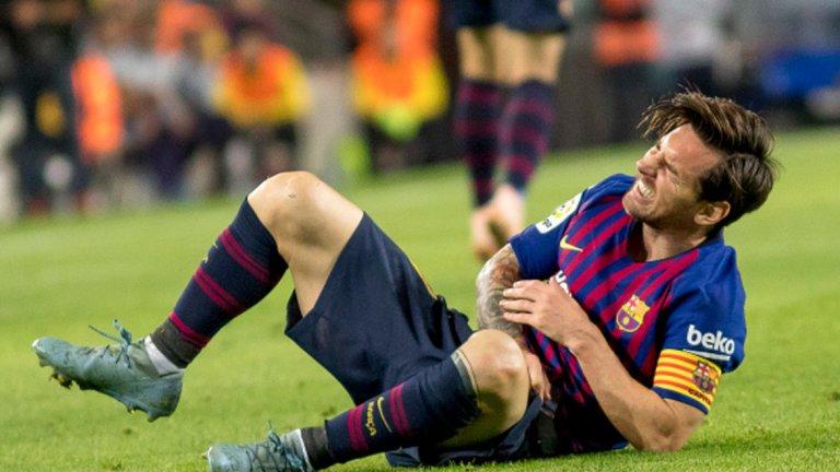 Лионел Меси пропусна предишното Ел Класико, когато беше със счупена ръка, но Барселона разби Реал с 5:1 и без него