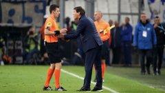 Беноа Бастиен не зачете напълно редовен гол на Марсилия и изгони треньора Руди Гарсия заради протестите му