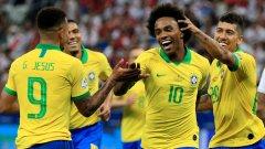 Бразилия смачка Перу и оглави групата (видео)