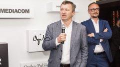 Гавин Дюк и Павел Гала за основаването на Wavemaker
