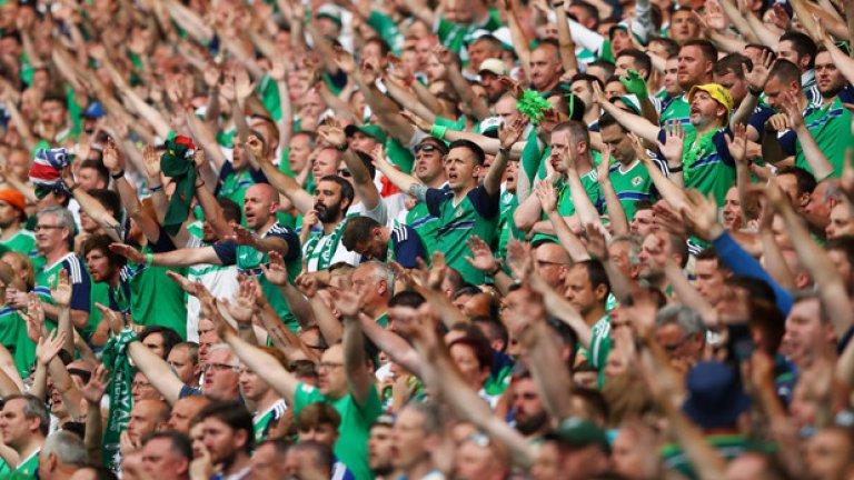 Накрая пък изгря слънце, а Северна Ирландия вкара и втори гол, докарвайки феновете си до екстаз
