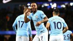 Стърлинг вкара най-бързия гол на сезона, а Сити очаквано записа нов успех