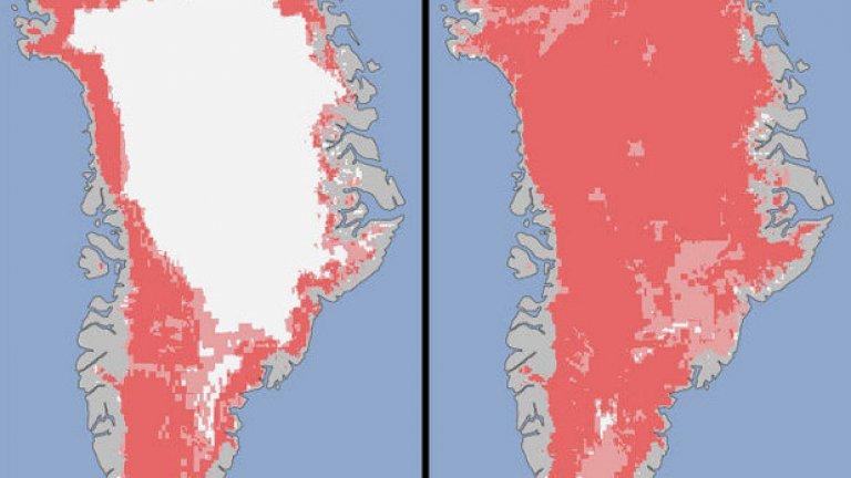 Ледената шапка на Земята се топи