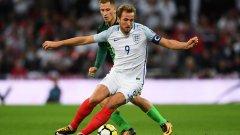 Мачът беше труден за англичаните, но с капитанската лента Кейн успя да поведе отбора и да вкара необходимия гол