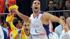 Милош Теодосич и съотборниците му от Сърбия имат тежка задача на полуфиналите