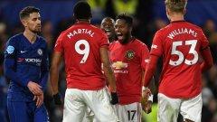 За трети път през сезона Юнайтед побеждава Челси - два пъти в първенството и веднъж за Купата на лигата