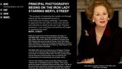 """Носителката на """"Оскар"""" Мерил Стрийп претърпя трансформация за ролята си на бившия британски премиер Маргарет Тачър в биографичния филм """"Желязната лейди""""."""