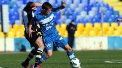 Антонио Вутов вкара единствения гол за Левски след една от малкото смислени комбинации на отбора за целия мач