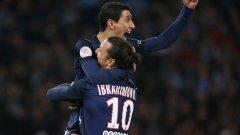 Златан Ибрахимович и Анхел ди Мария са насочили вниманието си изцяло към Шампионската лига, но са пред прага на впечатляващ европейски рекорд.