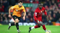 Мане отбеляза гола на победата за Ливърпул.