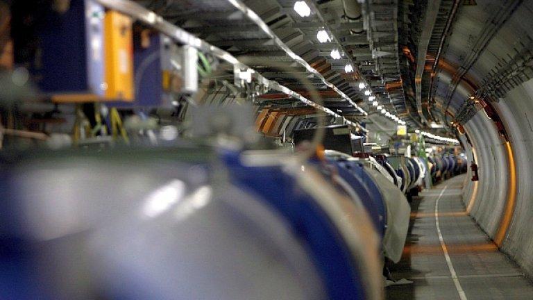 Опит със субатомни частици неутрино, изпратени под земята към Гран Сасо от намиращият се на 730 километра Cern