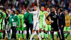 """Роналдо изравни резултата в първия мач между двата тима на """"Сантяго Бернабеу"""", преди резервата Алваро Мората да донесе успеха за """"кралете"""" с гол в заключителните секунди на двубоя"""