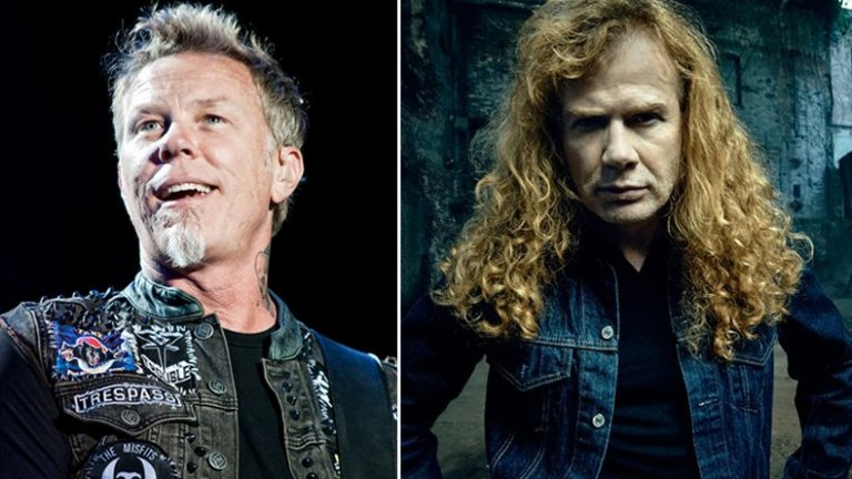 """Дейв Мъстейн и Metallica  Напрежението между легендите и техния бивш китарист (впоследствие фронтмен на Megadeth) продължи близо три десетилетия, преди всички заедно да споделят сцената през 2010 г. не къде да е, а в София на националния стадион """"Васил Левски"""" за Sofia Rocks – шоуто Big 4 с участието на Metallica, Megadeth, Slayer и Anthrax. Иначе Мъстейн е бил изхвърлен от Metallica през 1983 г. заради прекаляване с алкохола и наркотиците и шумни скандали с останалите, като скоро след това сформирал Megadeth. Певецът и китарист никога не е пропускал да изкаже крайното си мнение за всички и всичко, а ненавистта му към Metallica не беше тайна в годините, в които с Ларс Улрих си разменяха нападки. Все пак безкрайните обвинения между двете страни изглежда вече са в миналото."""