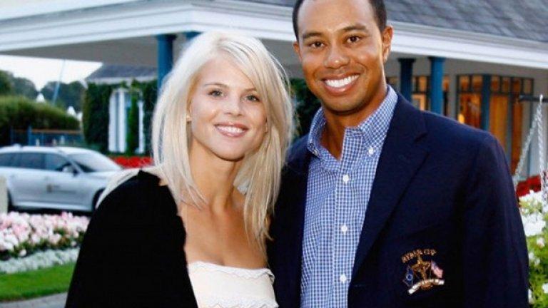 Тайгър Уудс и Елин Нордегрен  Само със 100 млн. долара олекна Тайгър Уудс, след като побеснялата заради изневерите му Елин Нордегрен спечели бракоразводното дело през 2010-та година.