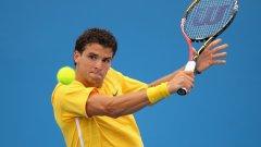 Григор Димитров постигна впечатляваща победа на турнира в Мюнхен след като на осминафинал отстрани бившият №8 в света Маркос Багдатис