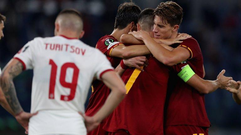 """ЦСКА поведе на """"Олимпико"""", но след това Рома заби пет безответни гола"""