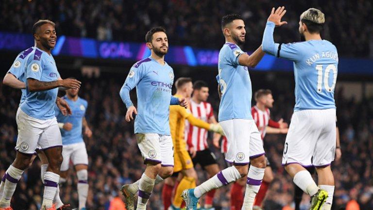 Агуеро и Де Бройне отбелязаха головете за Манчестър Сити.