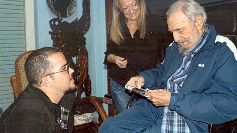 Фидел Кастро в непринудена домашна обстановка