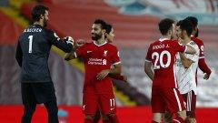 Жота вкара в дебюта си за Ливърпул, а Салах не успя да се разпише срещу Арсенал.