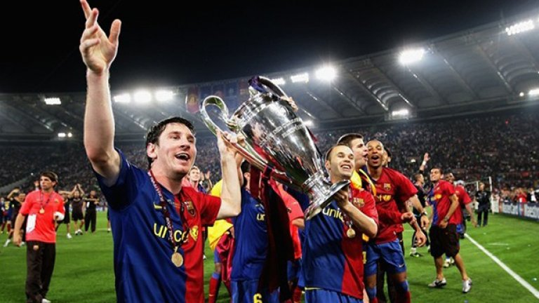 Лео Меси и Барса са завършили мисията в Рим, където изнесоха открит урок на Юнайтед. Меси вкара с глава (!!), а през сезона Барса бе великолепен отбор с доста късмет. Особено на полуфинала в Шампионската лига с Челси...