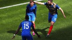 """Антоан Гризман отбеляза и двата гола за обрата на Франция срещу Ейре и прати """"петлите"""" на 1/4-финалите"""
