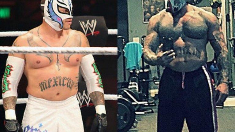 Рей Мистерио  Към края на кариерата си в WWE получаваше доста критики, че е неглижирал своята физика. Тялото му наистина не изглеждаше както преди, контузиите също му попречиха, а когато се появеше на ринга, изглеждаше неособено заинтересован. Все пак, след напускането на WWE той успя да си върне формата и неотдавна показа снимка, на която е заменил мазнините с мускули.