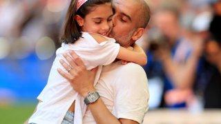 Съпругата и двете дъщери (на снимката е Валентина, кръстена на баща му Валенти) на Гуардиола са били на концерта на Ариана Гранде по време на терористичната атака в Манчестър през 2017 г.