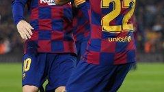 Меси отново беше в основата на успеха на Барса с двата си гола и двете си асистенции