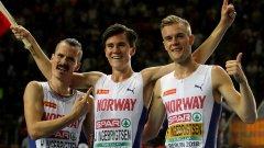 След успехите на Хенрик (вляво) и Филип (вдясно), дойде ред и на 17-годишния им брат Якоб да се окичи с европейско злато
