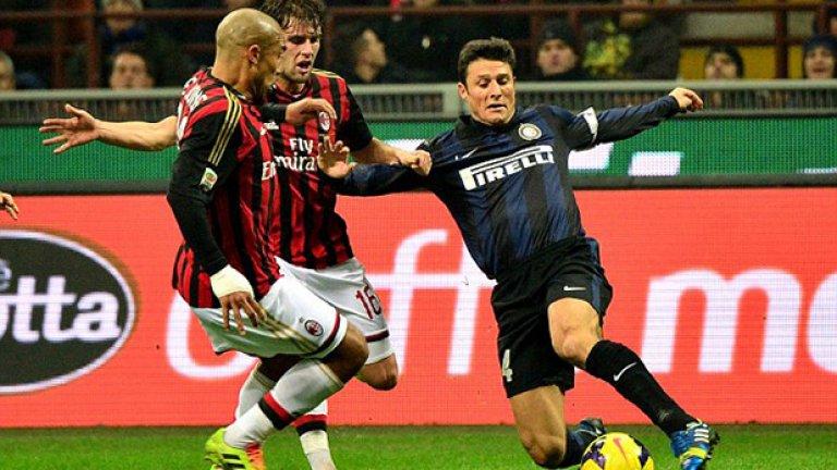 """Хавиер Санети, Интер - №4 Един от най-уважаваните играчи не само в Интер, но и от съперниците. Санети прекара 19 години при """"нерадзурите"""" и в 15 от тях носеше капитанската лента."""