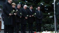 """Ангела Меркел положи цветя на """"Брайтшайдплац"""""""