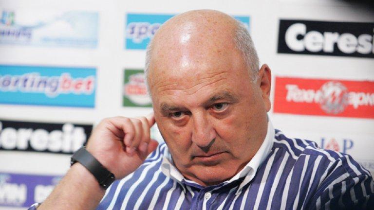 Президентът на Славия не пропусна и този път да ръси бисери