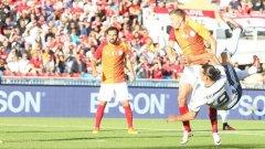4 минути трябваха на Златан, за да даде аванс на Манчестър Юнайтед.